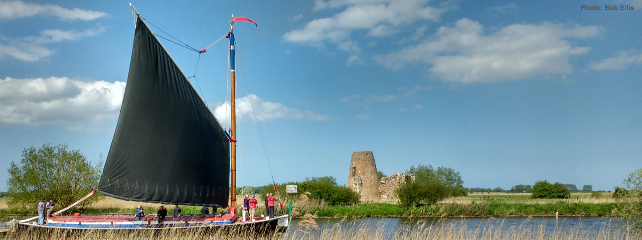 Wherry passing St Benet's Abbey